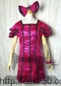 ミニーオー!ミニー  ミニーマウス 風 コスプレオーダメイド衣装制作サンプル