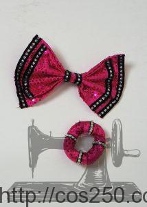 リボンとブレスレット ミニーオー!ミニー ミニーマウス 風 コスプレ衣裳オーダー製作サンプル