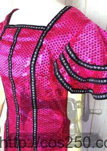 胸部のアップ ミニーオー!ミニー ミニーマウス 風 コスプレ衣裳オーダー製作サンプル