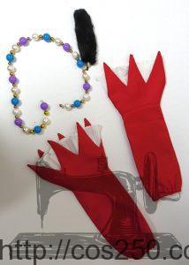 手袋&腰のベルト プロジェクトDIVA ピエレッタ 初音ミク 風コスプレオーダメイド衣装制作