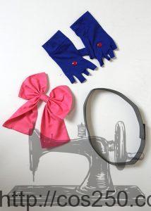 リボン 手袋 ベルト 魔法少女リリカルなのはStrikerS キャロ・ル・ルシエ 風 コスプレ衣裳オーダー製作サンプル
