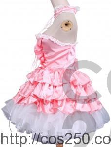 ロリータ ノースリーブピンクドレス